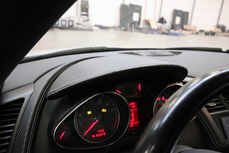 Audi r8 lederen autobekleding italiaans runderleder zwart - Lederen bekleding ...