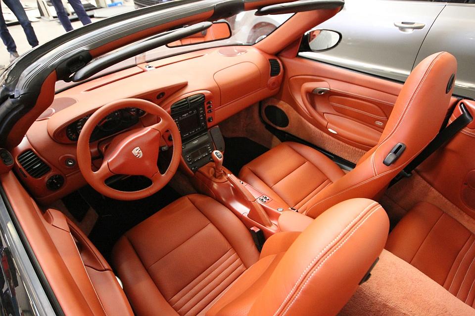 Porsche 996 cabrio lederen autobekleding for Interieur 996